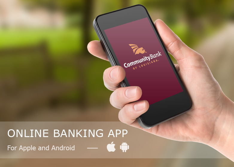 mobile phone displaying the CBLA mobile banking app